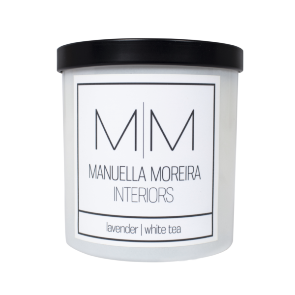 Lavender White Tea Candle Manuella Moreira Interiors