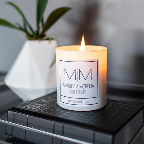 Lavender White Tea Candle